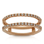 Rose Gold Diamond Insert Ring 1/3 ctw, 14K