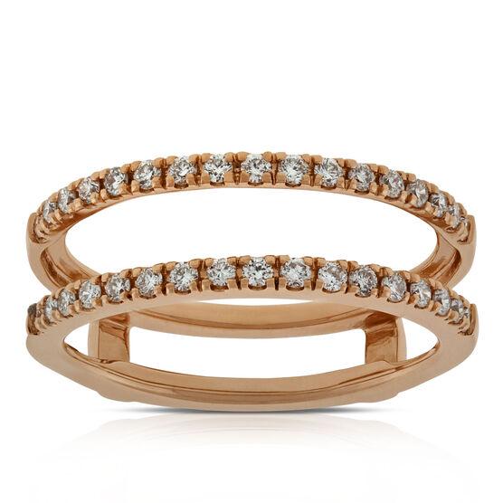 Diamond Insert Ring 14K, 1/3 CTW