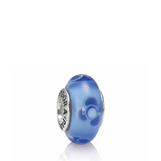 PANDORA Flowers For You Blue Charm RETIRED