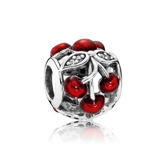 PANDORA Sweet Cherries Enamel CZ Charm