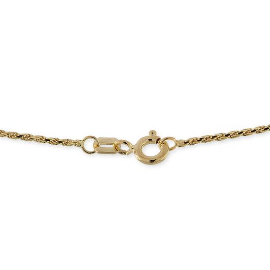 "Diamond Cut Rope Chain 14K, 18"""