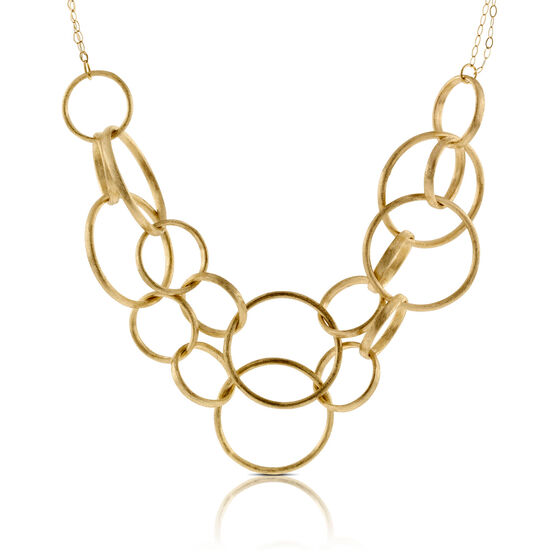 Toscano Collection Interlocking Rings Bib Necklace 14K