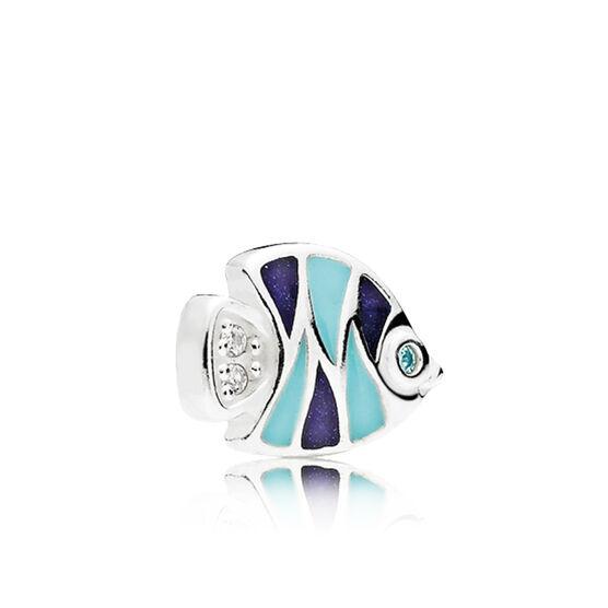 PANDORA Petite Element Enamel & CZ Fish Charm