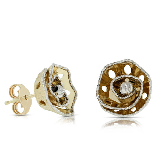 Toscano Rosetta Earrings 14K