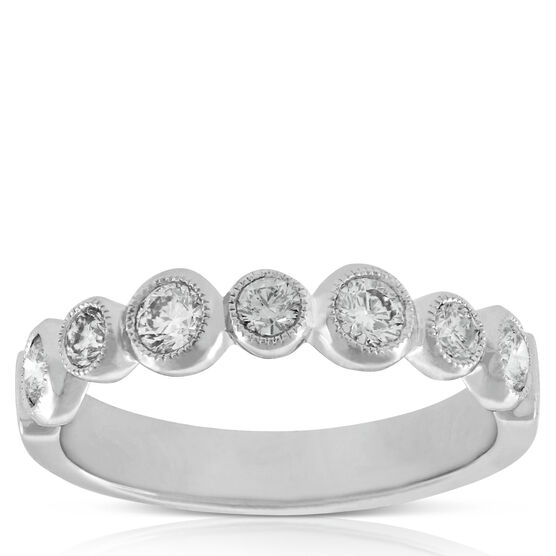 Bezel Set Diamond Band, 5/8 ctw. 14K
