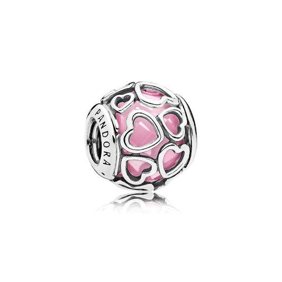 PANDORA Encased in Love Pink Charm