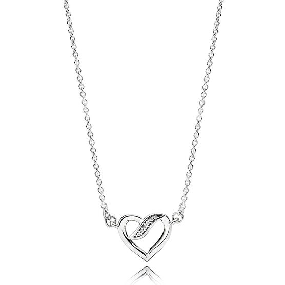 PANDORA Ribbons of Love CZ Necklace