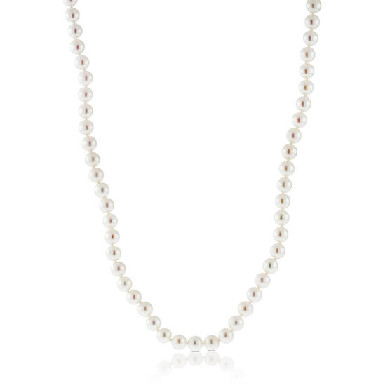 Akoya Cultured Pearl Necklace 6mm, 14K, 18""