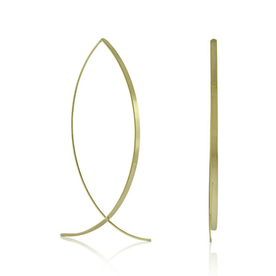 Ribbon Threader Earrings 14K