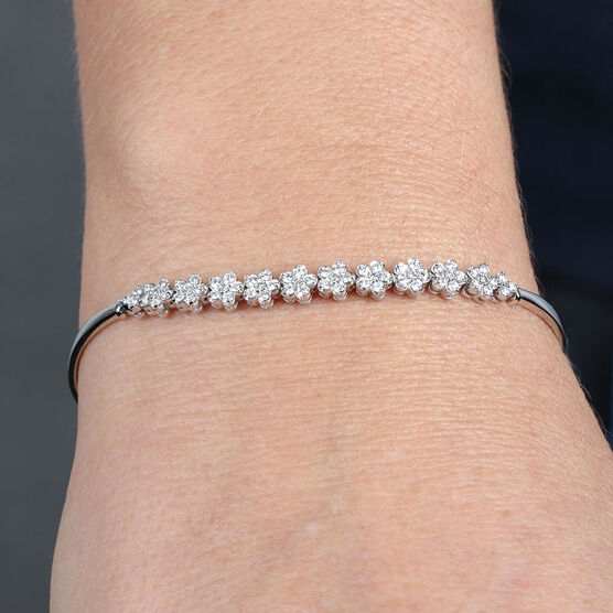 Diamond Flower Bracelet 14K