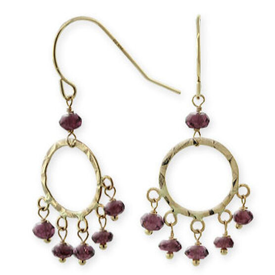 Garnet Earrings 14K