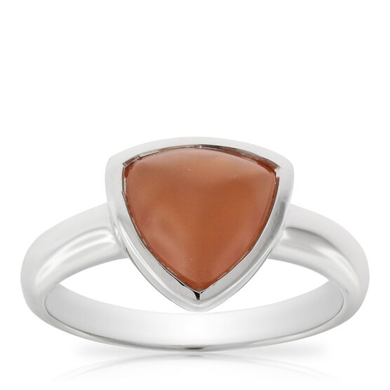 Lisa Bridge Orange Moonstone Sugarloaf Ring