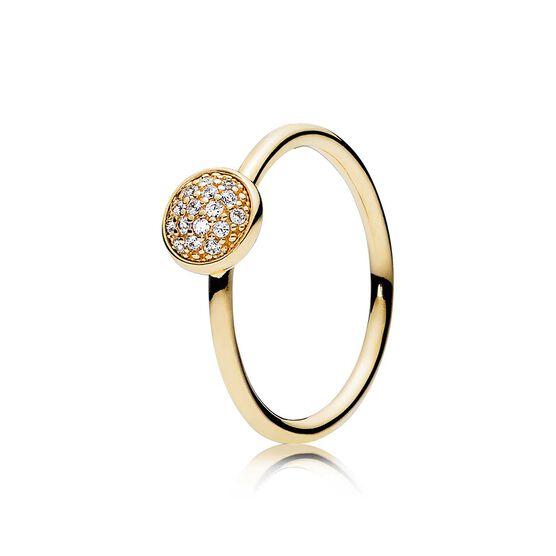 PANDORA Dazzling Droplet CZ Ring 14K