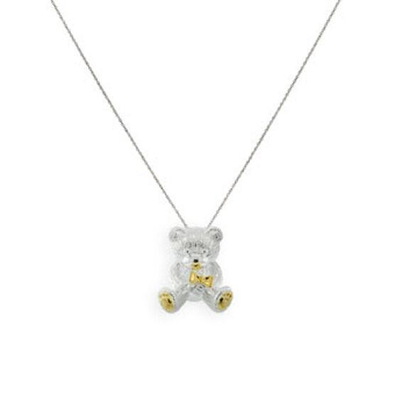 2010 Benny Bear Pendant in Sterling Silver & Gold Rhodium