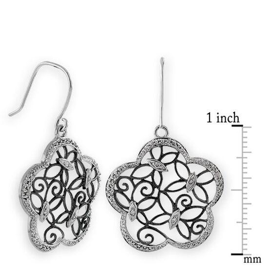 Butterfly Diamond Earrings 14K