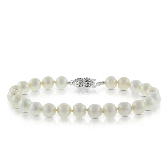 Cultured Pearl Bracelet 14K