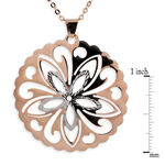 Rose Gold Flower Cut Out Pendant 14K