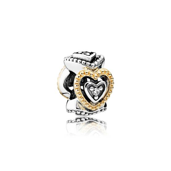 Pandora Celebration of Love CZ Spacer, Silver & 14K