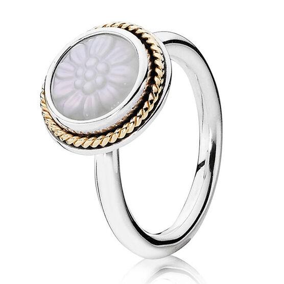 PANDORA Daisy Signet Ring, Silver & 14K
