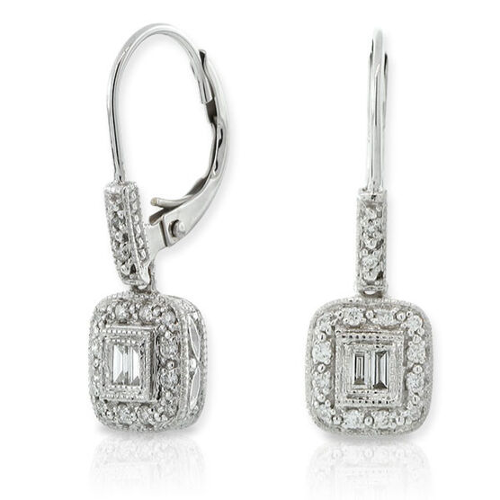 Diamond Eurowire Earrings 14K