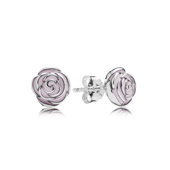 PANDORA Rose Garden Enamel Earrings