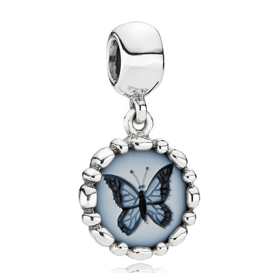 PANDORA Butterfly Cameo Charm RETIRED