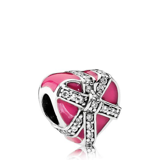 PANDORA Gifts of Love Enamel & CZ Charm