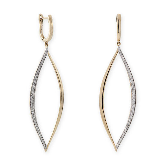 Whitney Stern Diamond Earrings 14K