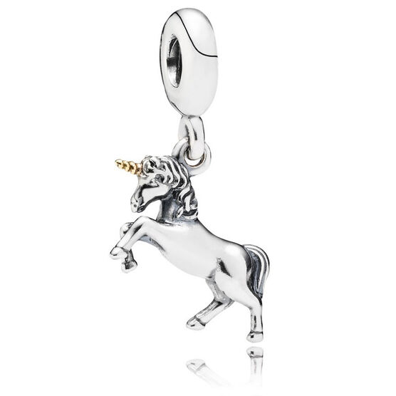 PANDORA Unicorn Charm, Silver & 14K