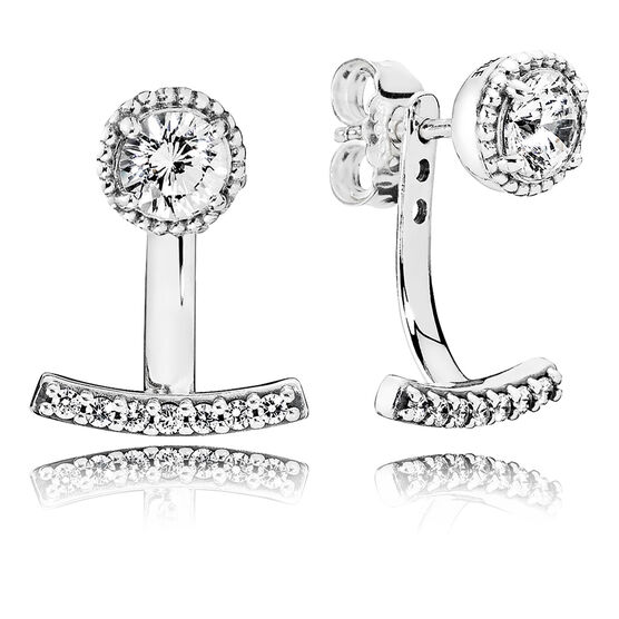 PANDORA Abstract Elegance CZ Earrings & Jackets