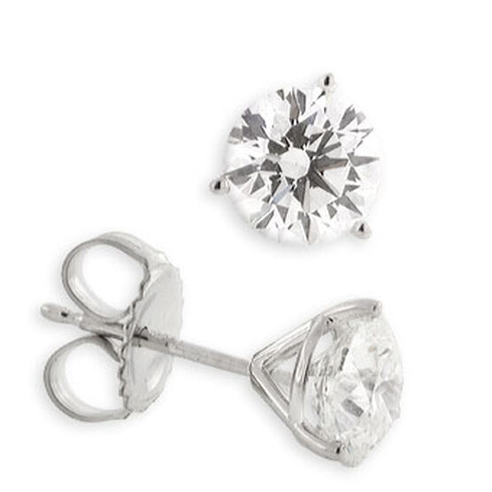 Forevermark Diamond Solitaire Earrings 14K, 2 ctw.