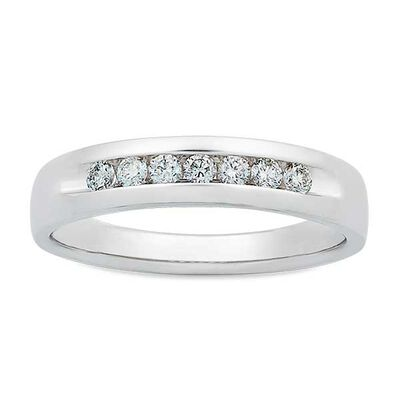 Men's Channel Set Diamond Band 14K