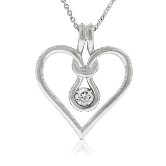 Everlon™ Diamond Knot Collection Heart Pendant 14K