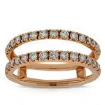 Rose Gold Diamond Insert Ring 3/4 ctw, 14K