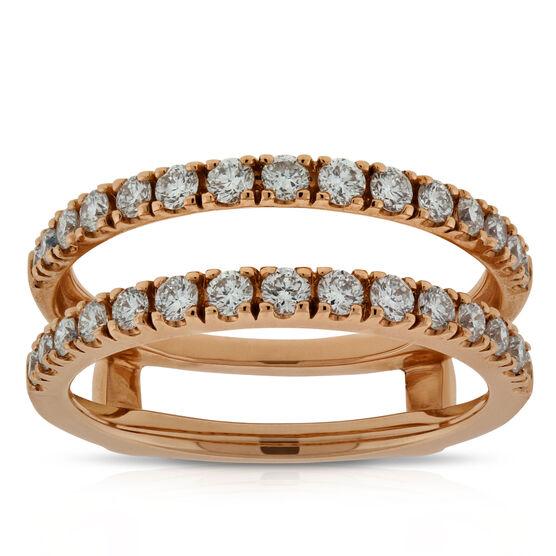 Diamond Insert Ring 14K, 3/4 CTW