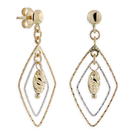 Open Marquise Dangle Earrings 14K Gold