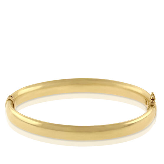 Toscano Collection Oval Bangle Bracelet 18K