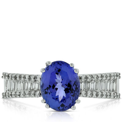 Tanzanite & Diamond Ring 14K