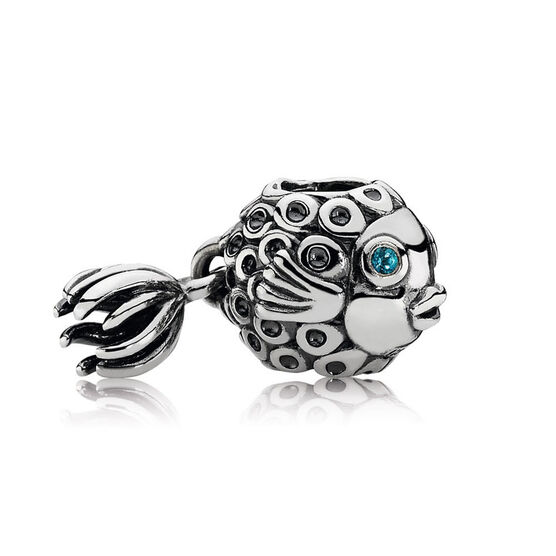 PANDORA Splish Splash Topaz Charm