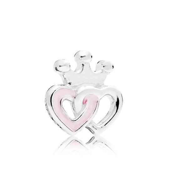 PANDORA Petite Element Enamel Interlocking Hearts Charm