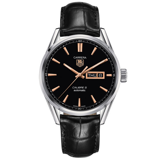 TAG Heuer Carrera Calibre 5 Day-Date Automatic Watch, 41mm