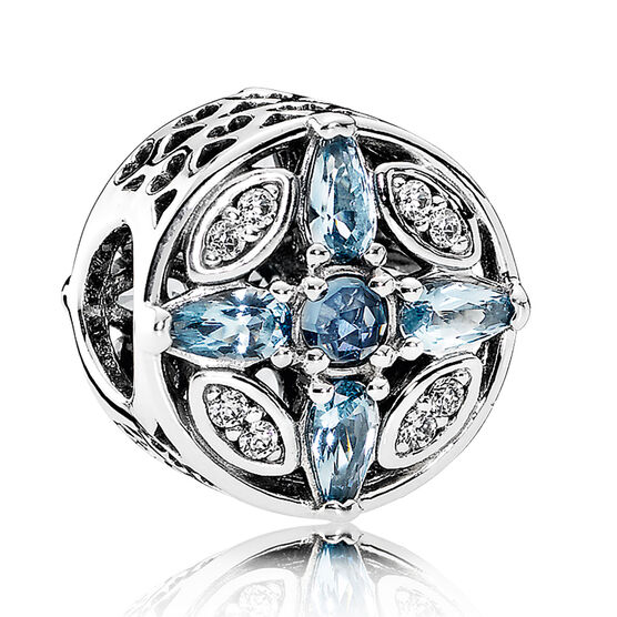 PANDORA Patterns of Frost Charm, Crystals & CZ