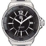 TAG Heuer Formula 1 Steel & Black Ceramic Diamond Bezel Watch, 37mm