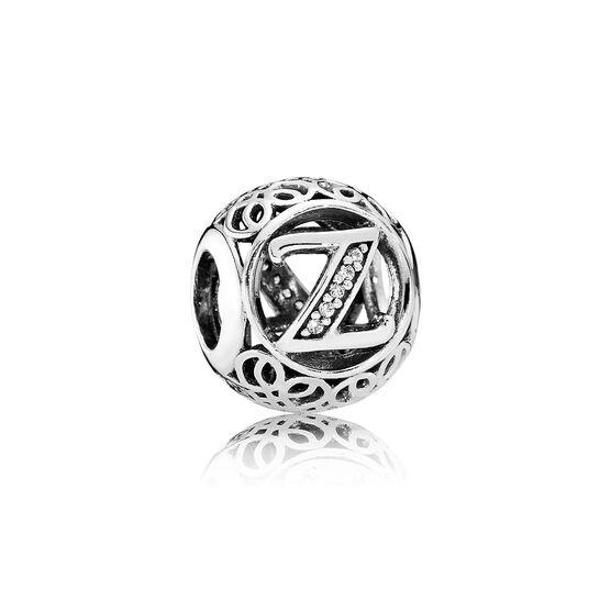 PANDORA CZ Vintage Design 'Z' Charm