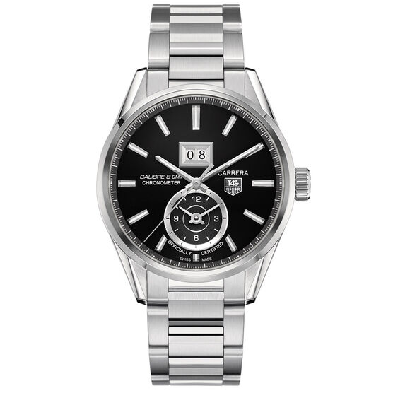 TAG Heuer Carrera Calibre 8 GMT & Grande Date Watch, 41mm