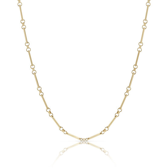 Toscano Collection Bar Link Chain 18K