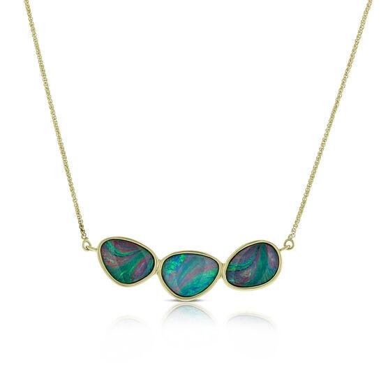 Opal Doublet Necklace 14K