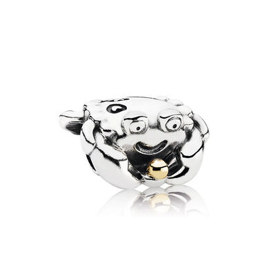 PANDORA Happy Crab Charm, Silver & 14K