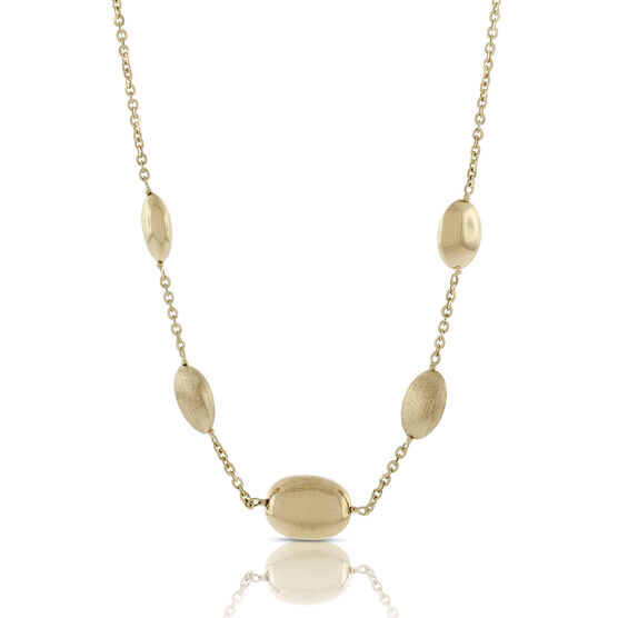 Toscano Collection Pebble Station Necklace 18K