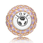 PANDORA ESSENCE Love Pavé Charm, Sterling & 14K